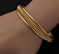 U7® Women's Simple Cuff Bangle 18K Gold Platinum Plated Cuff Bracelet High Quality Fashion Jewelry Jewellery