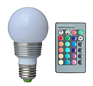 cheap -1pc 3W E27 Ball Bulbs RGB K AC 85-265V V