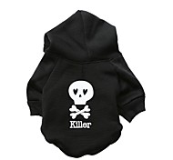 Cat / Dog Hoodie Black Dog Clothes Winter Skulls