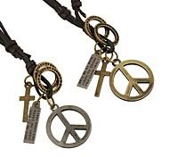 Недорогие -Бижутерия Ожерелья с подвесками Повседневные Кожа Мужчины Коричневый Свадебные подарки