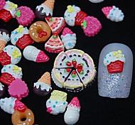 Недорогие -100шт 3d картины смолы торт ногтей украшения