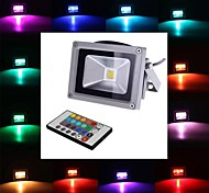4W LED Floodlight 1 leds Integrate LED 450-700lm RGB Remote-Controlled AC 85-265