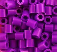 cheap -Approx 500PCS/Bag 5MM Purple Fuse Beads Hama Beads DIY Jigsaw EVA Material Safty for Kids Craft