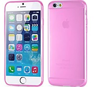cheap -Case For Apple iPhone 6 iPhone 6 Plus Ultra-thin Transparent Back Cover Solid Color Soft Silicone for iPhone 6s Plus iPhone 6s iPhone 6