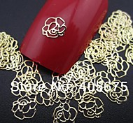 50PCS Rose Shape Slice Metal Nail Art Decoration