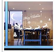 Недорогие -zooyoo® милые красочные ПВХ съемный Рождество carrige картину из стены наклейки горячие наклейки продажи стены для домашнего декора