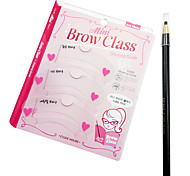 cheap -5 Colors 3PCS Beauty Eye Brow Card with a Drawing pen Cosmetic Beauty Care Makeup for Face