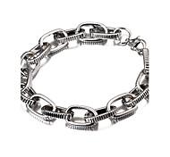 Недорогие -ширина 1 см, посеребренные моды популярных дешевых полоса резные браслет Фигаро цепи