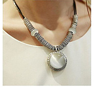 cheap -Women's Leather Opal Pendant Necklace Statement Necklace - Fashion Simple Style White Necklace For Wedding Party Daily Casual