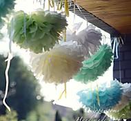 Недорогие -10 дюймовые бумаги цветок Декорации для вечеринок - набор из 4 (больше цветов)