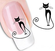 cheap -1pcs Water Transfer Sticker 3D Nail Stickers Nail Stamping Template Daily Cartoon Fashion Lovely High Quality