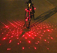 cheap -UNGROL Bike Light Red Babysbreath Design 1 Laser Module 6 LED 6 Flash Mode Black Bike Warning Laser Light