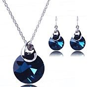Women's Jewelry Set Crystal Fashion Costume Jewelry Earrings Necklace For Party Special Occasion Anniversary Birthday Gift Wedding Gifts