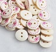 Bowknot Pattern Scrapbook Scraft Sewing DIY Wooden Buttons(10 PCS)