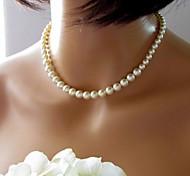 preiswerte -Damen Niedlich Perle Künstliche Perle  -  Retro Brautkleidung Europäisch Farbbildschirm Modische Halsketten Für Hochzeit
