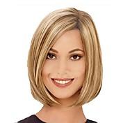 Недорогие -Парики из искусственных волос Стрижка боб плотность Блондинка Карнавальный парик Парик для Хэллоуина Черный парик