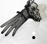 Недорогие -тюль запястье длина перчатки свадебные перчатки классический женский стиль
