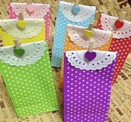 5PCS Crafts Party Polka Dot Paper Lunch Bags (9cm*6cm*18cm)