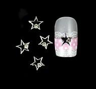 10шт черная звезда с серебряным сплавом линия украшения искусства ногтя