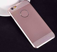 2 in 1 Combined Silica Gel Brushed Metal Cover for iPhone 6 (Assorted Colors)