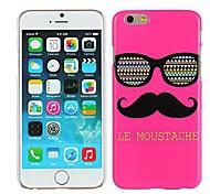 rosa le bigote& gafas de cubierta de la caja de plástico duro para el iphone 6 más
