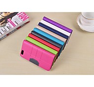 abordables -HHMM Glitter Can Insert Card PU Leather Cases with Stand for iPhone 6 plus Case 5.5 inch(Assorted Colors)