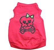 Недорогие -Кошка Собака Футболка Одежда для собак Дышащий С сердцем Черепа Розовый Костюм Для домашних животных