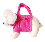 Poodog Design Plush Toys Soft Hand Bag