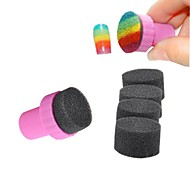 Magic Nail Art Sponges with Stamper Polish Stamping Manicure Tool Set