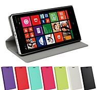 Для Кейс для Nokia со стендом / Флип Кейс для Чехол Кейс для Один цвет Твердый Искусственная кожа Nokia Nokia Lumia 930