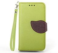 cheap -Case For Samsung Galaxy Samsung Galaxy Case Card Holder Wallet with Stand Flip Full Body Cases Solid Color PU Leather for S3 Mini