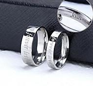 joyas anillos par de regalo personalizado de acero inoxidable grabado