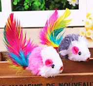 Cat Toy Pet Toys Interactive Feather Toy Mouse Textile