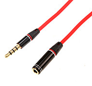 cheap -1.2m 3.936FT Audio 3.5mm Male to Audio 3.5mm Female Cable for Mobile Phone and Car AUX
