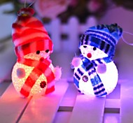 10*6CM Electronic LED Christmas snowman