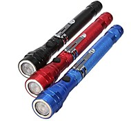 cheap -LED Flashlights / Torch LED 300 lm 1 Mode - Zoomable Nonslip grip Everyday Use Multifunction Working Traveling Black Red Blue