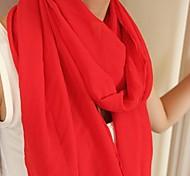 женские чистые цвета шифоновые шарфы