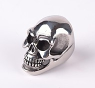 Z&X®  Punk Gothick Style Vintage Huge Size Skull Titanium Steel Men's Statement Ring Jewelry Christmas Gifts