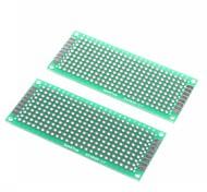 Недорогие -3 х 7 см двусторонняя стекловолокна прототипов печатных плат универсальный макет (2 шт)