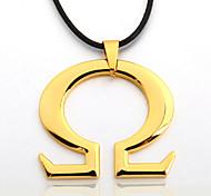 мужская сплав цинка половина тела черная веревка ожерелье кулон