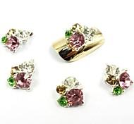 12 цветов новый блеск алмазов наклейки блестеть 3d ломтик порошок украшения набор
