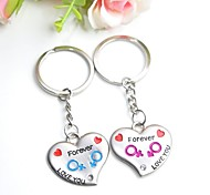 cheap -Personalized Engraving  FOREVER LOVE  Metal Couple Keychain