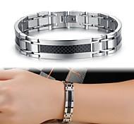 Муж. Теннисные браслеты Уникальный дизайн Мода бижутерия Титановая сталь Бижутерия Бижутерия Назначение Свадьба Для вечеринок