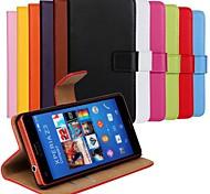 Недорогие -сплошной цвет натуральной кожи всего тела с подставкой и слот для карт Sony Xperia z3 компактные / z3 Mini (разные цвета)