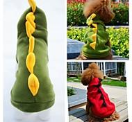 Недорогие -Кошка Собака Костюмы Инвентарь Толстовки Одежда для собак Животное Красный Зеленый Флис Костюм Для домашних животных Косплей Свадьба