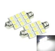 Festoon Car White 3W SMD LED 6000-6500 Reading Light License Plate Light Side Marker Light Door lamp Spotlight High Output