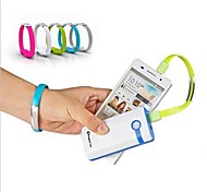USB to Micro USB Wrist Band Data Charging Cable for Samsung S4/5 HTC LG and Others  (Assorted Colors)