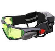 Adjustable Night Vision 25 Feet Goggles with Flip-out Lights Green Lens Great Toy for Kids Waterproof Fogproof