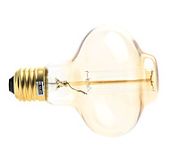 cheap -200-260 lm E26/E27 LED Filament Bulbs 1 leds Warm White AC 220-240V