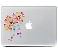 Недорогие -цветочный дизайн декоративные наклейки кожи для MacBook Air / Pro / Pro с сетчатки дисплей